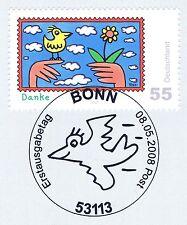BRD 2008: Post! Rizzi-Marke Nr. 2663 mit Bonner Ersttagssonderstempel! 1A! 1802