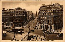 CPA PARIS 2e-Carrefour de la Rue de la Paix et de l'Avenue de l'Opéra (321911)