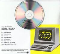 KRAFTWERK Computer World 2009 UK Mute remastered 7-track promo test CD