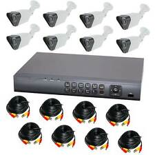 Komplettset 8 Kanal Digitaler Videorekorder + 8 x A13 Analoge Überwachungskamera