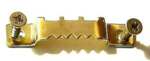 Saw Tooth Picture Hanger With Screws 42mm Canvas Hanging Brass Plated FREE POST