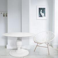 """Daria Pedestal Round Dining Table 47"""" Premium Quality Mid Century Furniture"""