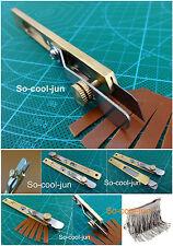 Leder Werkzeug Leather Line Strip Cutter Tool Copper Trimming Positioning Cutter