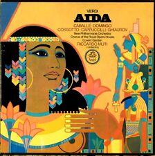 """VERDI """"AIDA"""" (CABALLE/DOMINGO/COSSOTTO) 3LP BOX SET PREMIUM QUALITY USED LP (NM)"""