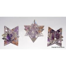 Amethyst  Merkaba Orgone Chakra Energy Reiki Healing Lot of 3 Divine Stars