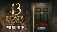 2013 Howl-O-Scream Busch Gardens Tampa Bay Fold Out Handbill - Who Are The 13?