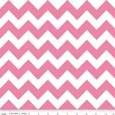 Chevron Hot Pink Medium Chevron for Riley Blake, 1/2 yard 100% cotton fabric