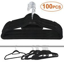 Premium Velvet Hangers 100 Pack Non-Slip Clothes Flocked Hangers 360° Rotatable