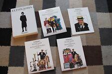 More details for elton john sotheby's catalogue 4x book box set rare vintage music 1988 london