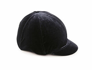 Shires Riding Skull Hat Helmet Velveteen Cover Black, Navy, Brown