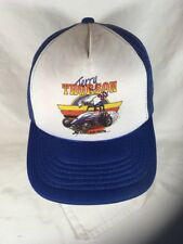 Action Auto racing Terry Thorson 30 sprint car hat cap snap mesh blue