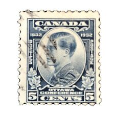 CANADA, SCOTT # 193, 5c. VALUE DULL BLUE PRINCE OF WALES 1932 ISSUE USED