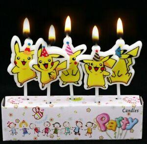 Pokemon Birthday Candle Party Supplies Cake Decoration Pikachu