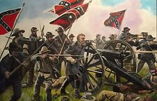 David Aldus ORIGINALE PICKETT'S CARICA Battaglia di Gettysburg Hex Lee dipinto ad olio