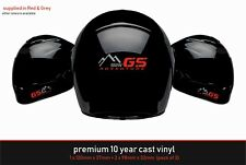 BMW Adventure Premium Helmet Kit 10 Year Cast Vinyl Decals Stickers x 3