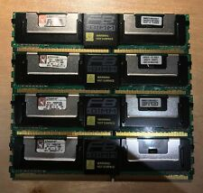 Kingston KTH-XW667 4G 2GB 2RX4 PC2-5300F 667MHz FB DIMM RAM Memory Lot of 4