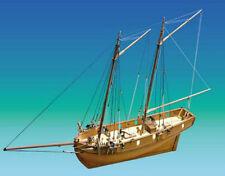 """Elegant, Detailed Wooden Model Ship Kit by Caldercraft: """"HM Schooner Ballahoo"""""""