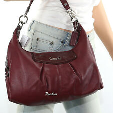 NWT COACH ASHLEY LEATHER CONVERTIBLE HOBO SHOULDER CROSSBODY BAG Z33010 PURPLE