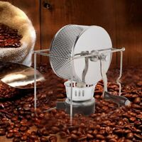 1Pc Mini Manual Stainless Steel Coffee Beans Roaster Home Kitchen Roller Baking