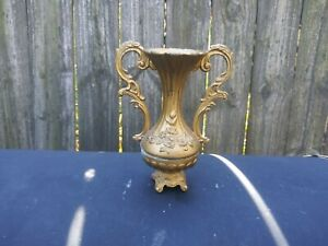 Vintage  Small Metal Bud Vase Made in Italy