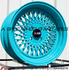 15X8 F1R F01 WHEEL 4x100 +25 73.1 TEAL RIM FITS ACURA INTEGRA 1986-2001