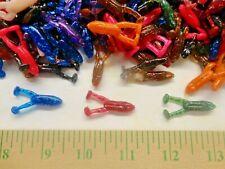 "60- 1.25"" Double Paddle Tail Micro Frog Fishing Lures Crappies Bass Pan Fish Bai"