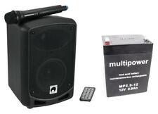 Omnitronic WAMS-065BT Drahtlos Akku Box Tragbar PA System Audio Player Bluetooth