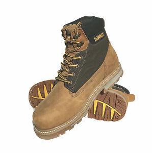 Dewalt Mens Safety Boots Leather Upper Steel Toe Cap Axle Honey Size UK 8 EU 42