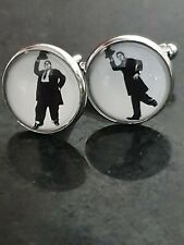 Laurel and Hardy Cufflinks Christmas gift Present