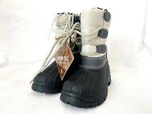 Snow Tec Unisex Blizz4 Winter Waterproof Snow Boots Walker Shoes Grey Size 6