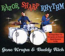 GENE & RICH,BUDDY KRUPA - RAZOR SHARP RHYTHM 2 CD NEUF