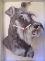 DOG WALL CLOCK.NEW & BOXED.30+ BREEDS AVAILABLE.MADE IN THE UK