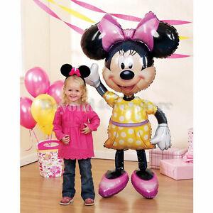 "Air Walker 52"" Giant Life-Size Foil Balloon Disney Minnie Mouse w Yellow Dress"