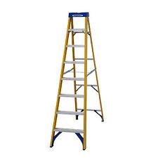 Abru Fibreglass Swingback Step Ladder 8 Tread Yellow (pack of 1) 71608