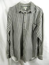 TOMMY BAHAMA Men's Large Long Sleeve Gingham Green Plaid Shirt