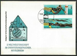 Germany (East) DDR GDR 1985 FDC World Orienteering Diving Championships