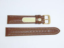 """DI-Modell Genuine Cowhide Waterproof Leather 18 mm M'BROWN Watch Band """"MONTANA"""""""