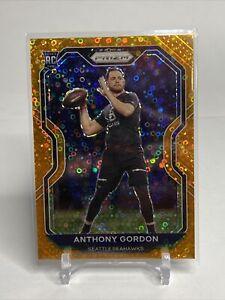 2020 Panini Prizm Football Anthony Gordon Orange Disco #391 - Seattle Seahawks