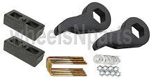 "Lift Kit Chevy Black Torsion Keys 2"" Cast Steel Blocks 1988-98 6 Lug Trucks SUV"