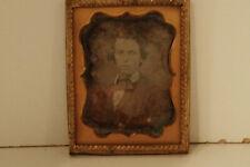 1850's Daguerreotype Photo of Man, Maryland/PA origin, 1/9 Plate
