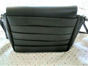 & Other Stories Black Real Leather Shoulder Bag Satchel