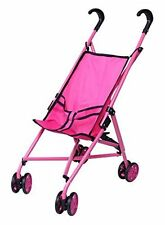 Precious Toys Hot Pink&Black Handles Doll Stroller with Swiveling Wheels