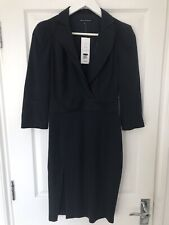 French Connection Wrap Pencil Shirt Dress Navy Size 8 Rrp £140 New With Tags