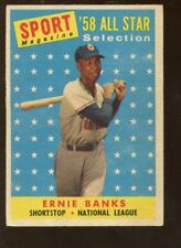 1958 Topps Baseball Card #482 Ernie Banks All Star
