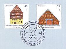 BRD 2010: Fachwerkbauten Nr 2823+2824 mit Bonner Ersttagssonderstempel! 1A! 1611