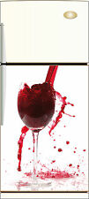 Sticker frigo REPOSITIONNABLE déco cuisine Vin 60x90cm Réf 020
