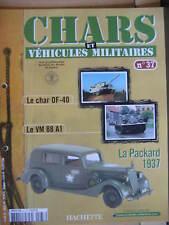 FASCICULE N°37 VEHICULES MILITAIRES CHARS AUTO MOTO
