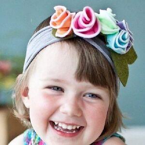 Baby Kinder Stirnband Blume Blüte Haarband Mädchen Haarschmuck grau lila pink