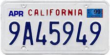 California 1990s License Plate