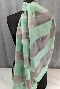 """Lovely Vintage Cambridge Colour blue Silk and Viscose Scarf by EAST  70"""" x 19"""""""
